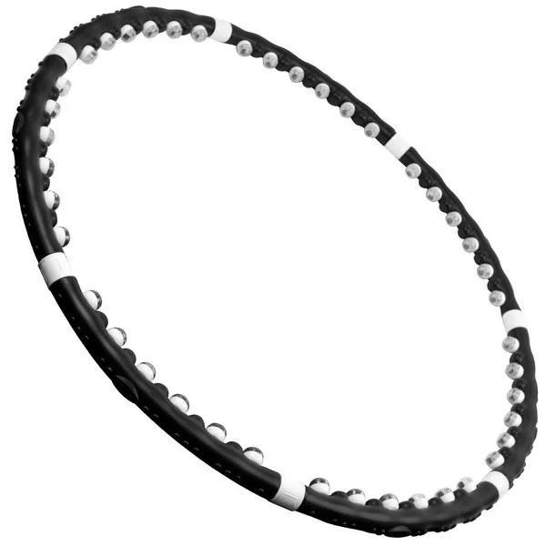 Хулахуп, тренажеры для похудения Профессионал Черный, массажный обруч с шипами   обруч для схуднення (ST)