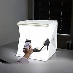 Световой лайткуб с LED подсветкой, Фотобокс для макросъемки, Оборудование для предметной фотосъемки 30х30х30см