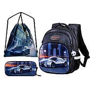 Школьный набор ортопедический рюкзак для мальчика пенал и сумка для сменки в 1-4 класс Winner One R3-225