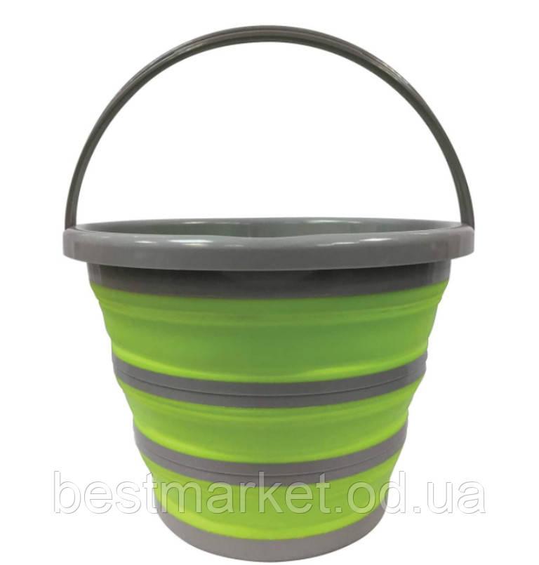 Складное Туристичне Відро 10 літрів Collapsible Bucket