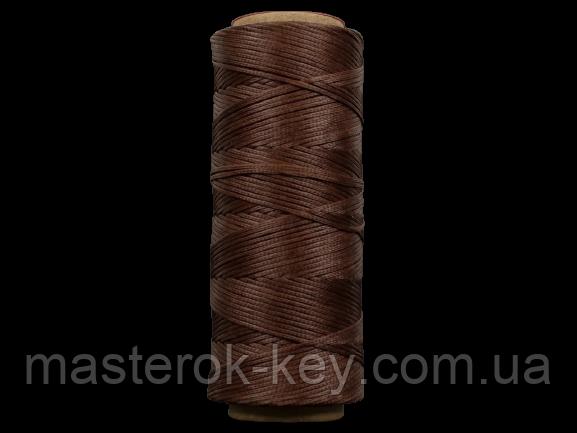 Galaces 1.00мм коричневая (S019) плоский шнур вощёный по коже (картон)