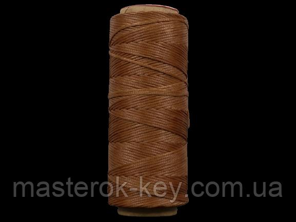 Galaces 1.00мм рыжевато-коричневая (S058) плоский шнур вощёный по коже (картон)