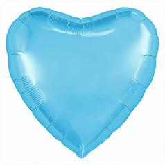 "Сердце 30"" AGURA-АГ Металлик холодный голубой (УП)"