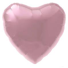 """Сердце 30"""" AGURA-АГ Металлик фламинго (УП)"""