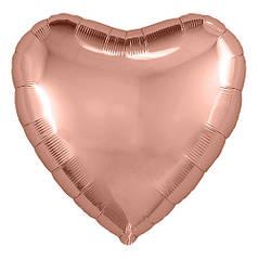 """Сердце 9"""" AGURA-АГ Металлик розовое золото"""