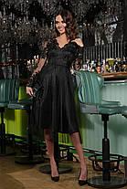 Черное кружевное красивое платье размер S, M, L, XL, фото 2