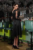 Черное кружевное красивое платье размер S, M, L, XL, фото 3