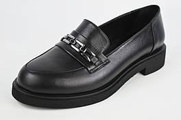 Туфли женские с цепью Evromoda 1237 36 Черные кожа