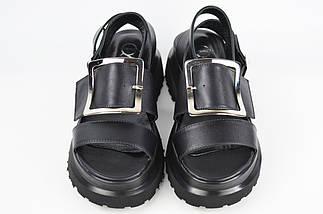 Босоніжки на платформі Aquamarin 120 40 Чорні шкіра, фото 2