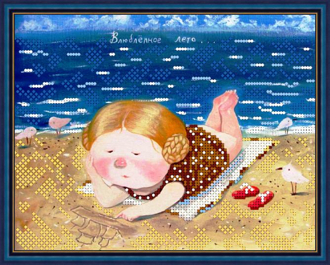 Вышивка бисером, Канва схемы картины Влюбленное лето