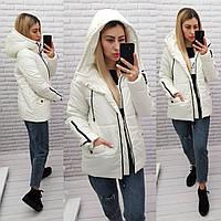Куртка женская практичная модель, арт 416, цвет белый