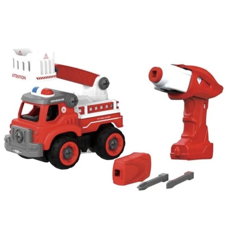 Игрушка-конструктор Пожарный кран с электродвигателем DIY SPATIAL CREATIVITY, 24 детали