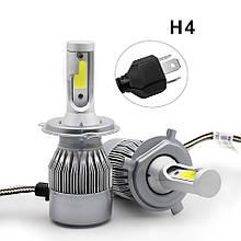 Автомобильные светодиодные лампы автолампы с цоколем H4  36W C6