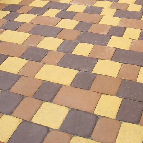 Тротуарная плитка Старая площадь Золотой мандарин Коричневая
