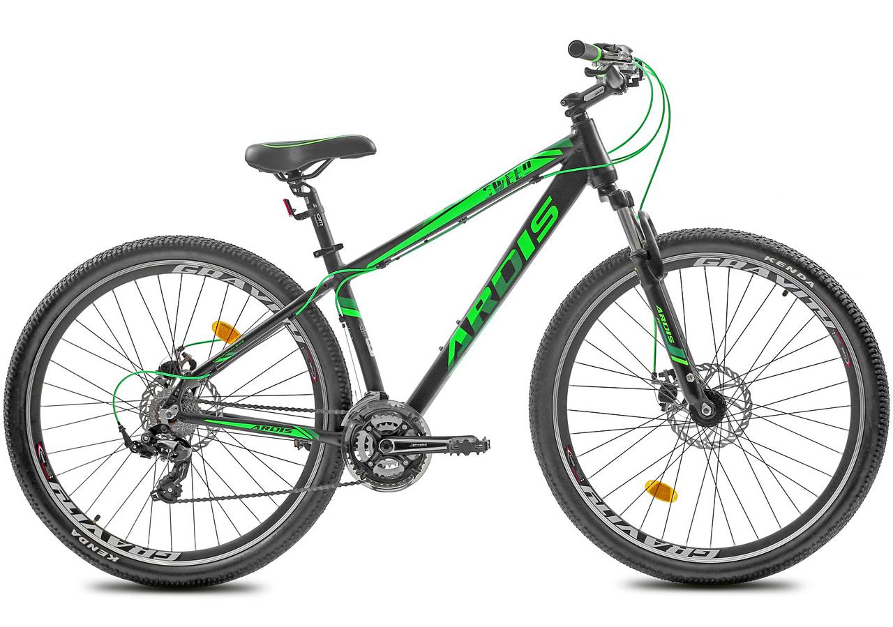 """Горный велосипед Ardis SWEED R29"""" 21"""" с алюминиевой рамой и дисковыми тормозами (Черно-зеленый)"""