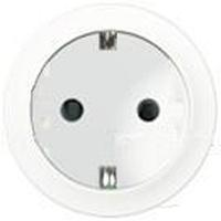 Лицевая панель розетки с заземлением Celiane белый (для 67161)