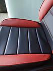 Чехлы на сиденья Опель Вектра Б (Opel Vectra B) (универсальные, кожзам, пилот СПОРТ), фото 2