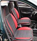 Чехлы на сиденья Опель Вектра Б (Opel Vectra B) (универсальные, кожзам, пилот СПОРТ), фото 6