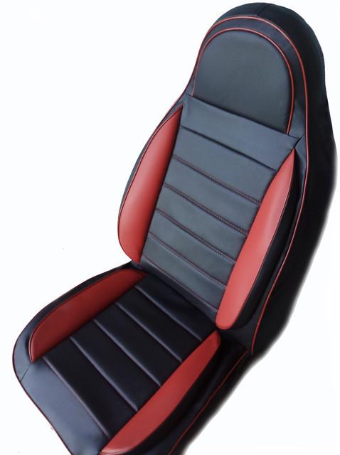 Чехлы на сиденья Рено Кенго (Renault Kangoo) (универсальные, кожзам, пилот СПОРТ)