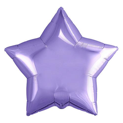 """Фол куля міні Аgura 9""""/23см Зірка Пастель фіолетова (Агура)"""