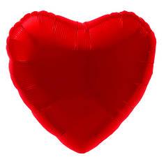 """Сердце 9"""" AGURA-АГ Металлик красный"""