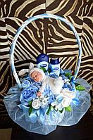 """Подарок новорожденному из вещей и косметики """"Зайка мой"""", фото 1"""