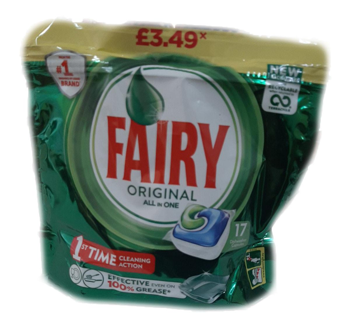 Засіб Fairy 17 капсул для посудомийних машин