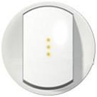 Клавиша 1-кл. выключателя с подсветкой Celiane белый