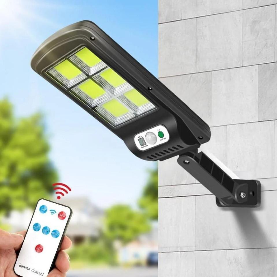 Вуличний ліхтар solar street BK120-6COB з датчиком руху