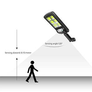 Вуличний ліхтар solar street BK120-6COB з датчиком руху, фото 2