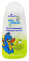 Мягкий шампунь и гель для купания Bibi Dream 2 в 1 Алоэ и Миндальное масло - 300 мл.