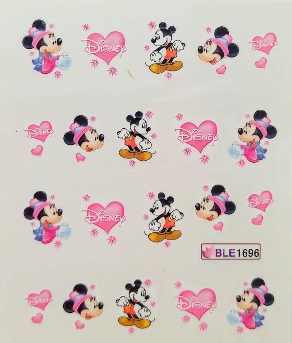Слайдер дизайн для ногтей Мультяшки, Микки Маус, сердечки