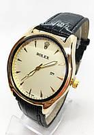 Чоловічі наручні годинники Rolex (Ролекс), золото з чорним циферблатом ( код: IBW245BY )