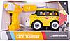 Игрушка-конструктор Школьный автобус с электродвигателем DIY SPATIAL CREATIVITY, 24 детали, фото 3