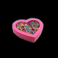 Набор колец детских в коробке-сердце 50 шт