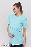 Туника для беременных и кормящих HOPE TN-21.012, аквамарин, Юла мама