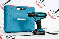 Шуруповерт Makita DF331DWE (18V, 2AH) Макіта з набором біт в кейсі