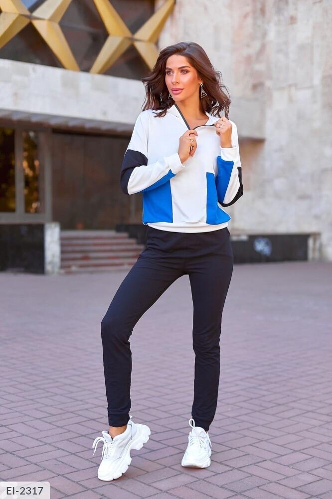 Жіночий спортивний костюм триколірний
