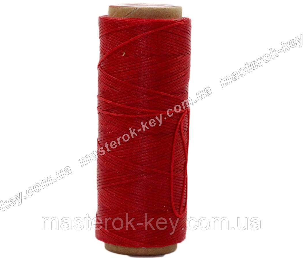 Galaces 1,2мм красный (S049) плоский шнур вощёный по коже (картон)