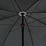 Садовый диван VidaXL двухместный с подушками и зонтиком, фото 6