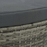 Садовый диван VidaXL двухместный с подушками и зонтиком, фото 7
