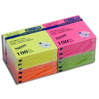 "Блок бумаги  липкий 75х75х100л ""BuroMAX"" 2312-98 неон"
