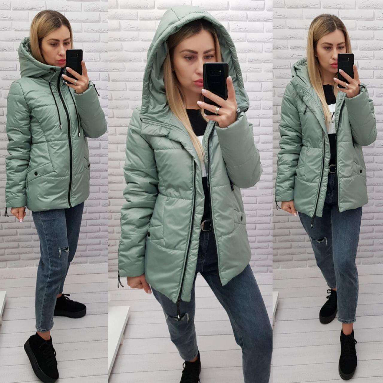 Куртка женская практичная модель, арт 416, цвет шалфей/мята