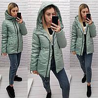 Куртка женская практичная модель, арт 416, цвет шалфей/мята, фото 1