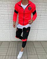 Спортивный костюм футбольный PSG яркий мужской молодежный модный весна футбольная форма