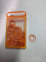 Скрепки цветные оранжевые круглые металлические 22 мм. 50 штук L1920-11 ТМ LEO 140159