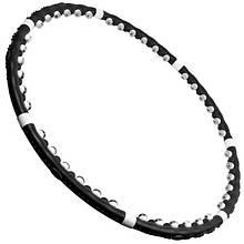 Хулахуп обруч для похудения - магнитный круг хула хуп массажный обруч (Черный)- Профессионал