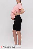Стильні чорні велосипедки для вагітних JOYCE SP-21.031