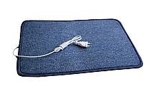 Электро-коврик с подогревом (синий, закругленные углы 50 x 33 см) электрический Трио 01502
