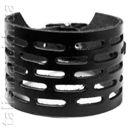 Браслет кожаный BKB-003 с перфорацией, фото 2